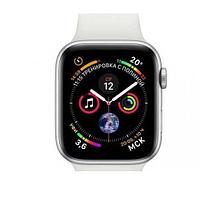 Apple watch series 5 44mm mwvd2 silver aluminium case with white sport band
