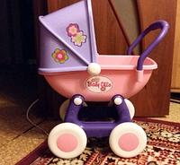 """Коляска для кукол Полесье """"Arina"""" 4-х колёсная розовая (в пакете)"""