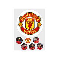 """Вафельная картинка """"Футбольный клуб Манчестер Юнайтед"""" д.200м"""