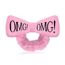 Розовый Бант-повязка для фиксации волос во время косметических процедур Double Dare OMG! HAIR BAND (ОРИГИНАЛ)