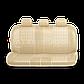 Чехлы на сиденья Comfort COM комбинированные с экокожей. Бежевые чехлы Автопрофи, фото 3