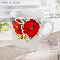 Кружка Добрушский фарфоровый завод «Маки красные», 400 мл
