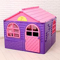 Детский игровой домик со шторками, Doloni средний сиреневый