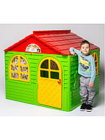 Детский игровой домик со шторками, Doloni средний зелёный