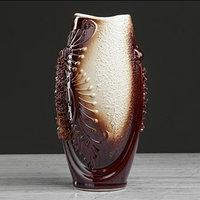 Ваза настольная 'Калипсо', лепка, декор, 21 см, керамика