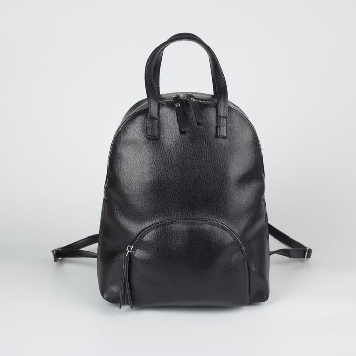 Рюкзак A300-409, 24*8*31, отд на молнии, н/карман, черный