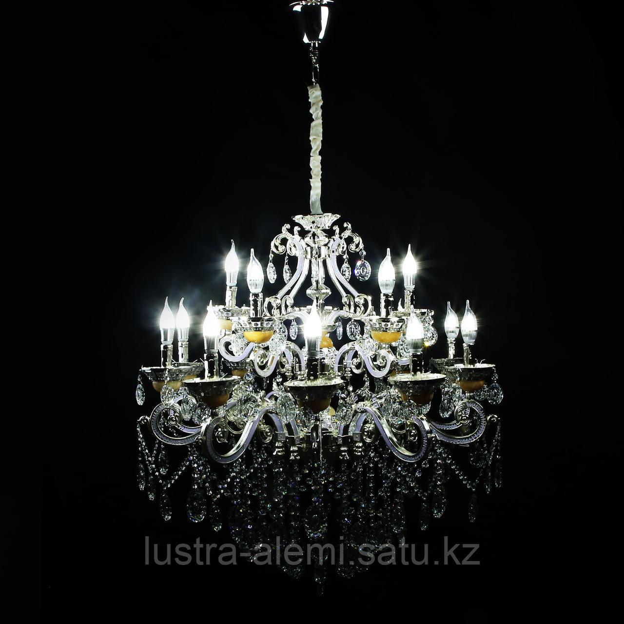 Люстра Классика 8825/10+5 Silver