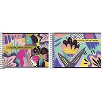 Альбом д/рис 24л Wсп А4 8428/2-ЕАС текстура лен, ВД лак Розовые цветы