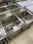 Ванна моечная 2-секционная Глубокая 40 см, фото 4