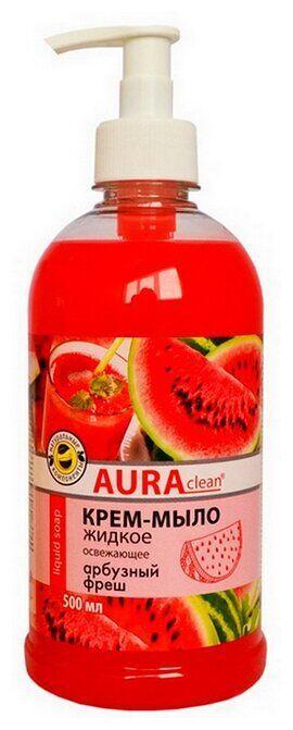 AURA clean Крем-мыло жидкое Арбузный фреш