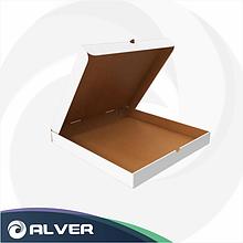 Коробка для пиццы, 330-330*40мм ГОФРО, БЕЛАЯ
