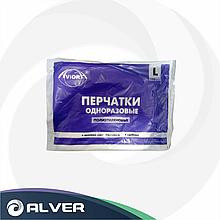Перчатки одноразовые, полиэтиленовые прозрачные размер L 100шт в упак