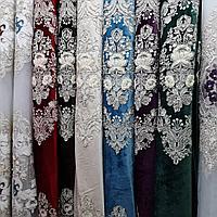 Коллекция Цветочная корона Шторы велюр+тюли 3Д