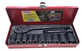 "4122-9 WMC tools Набор инструментов ударных 12 предметов 1/2"" (12гр.)(10-24мм) WMC TOOLS 4122-9"