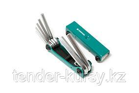 F-5072F Forsage Набор ключей 6-гранных складной, 7 предметов(2.5, 3- 6, 8, 10мм) Forsage F-5072F