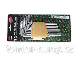 RF-5151LT ROCKFORCE Набор ключей TORX Г-образных длинных с отверстием15