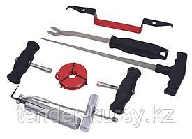 RF-907M1 ROCKFORCE Набор инструментов для демонтажа автомобильных стекол 7 предметов, в ложементе ROCKFORCE