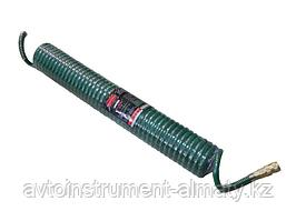 RF-1208-5M ROCKFORCE Шланг витой полиуретановый 8мм х 12мм х  5м с быстроразъемами (максимальное давление -