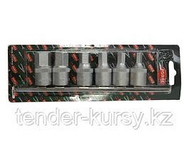 """RF-4063 ROCKFORCE Набор головок 6-гранных для маслосливных пробок, 6 предметов, 1/2""""(8,10,12,14,17,19мм)"""