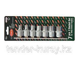 """RF-4073 ROCKFORCE Набор головок Е-профиль 7 предметов 1/2"""" (E10,E12,E14,E16,E18,E20,E22), на планке ROCKFORCE"""