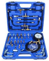 RF-946G1 ROCKFORCE Тестер давления топлива в наборе с адаптерами 46 предметов (0-10 bar) в кейсе. ROCKFORCE