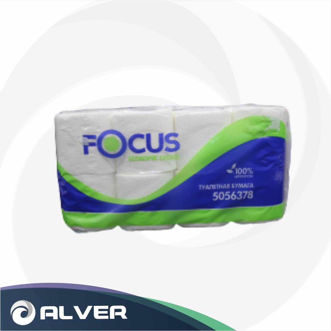 Туалетная бумага FOCUS эконом 8рул