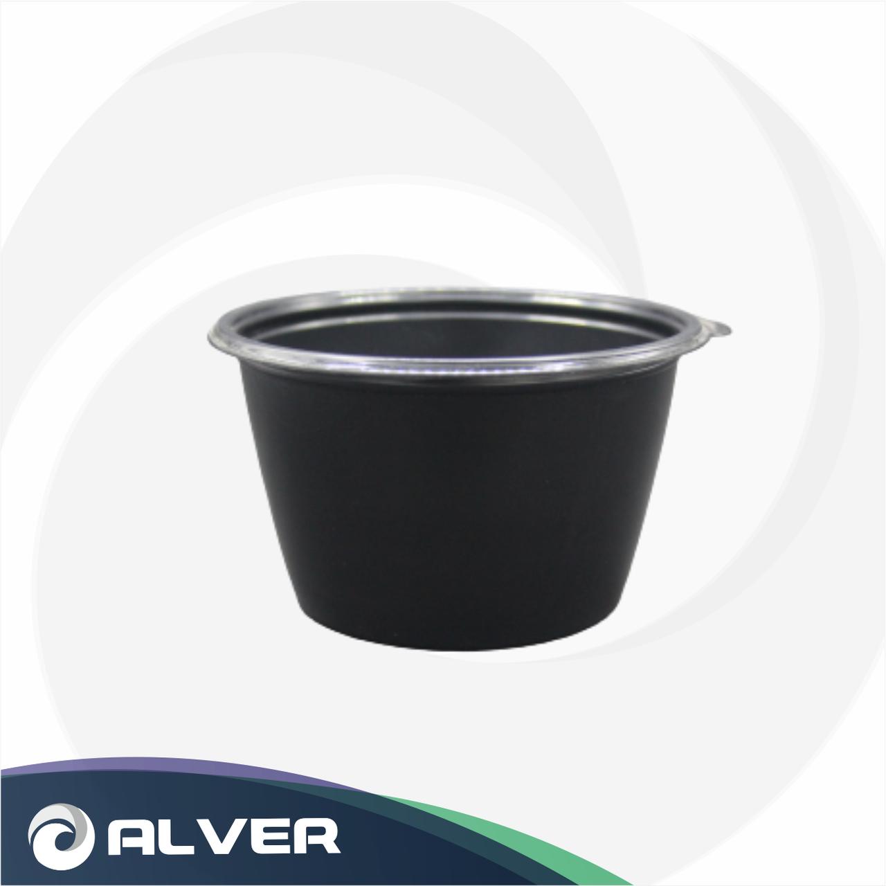 Контейнер суповой круглый 500 мл К-144 черная