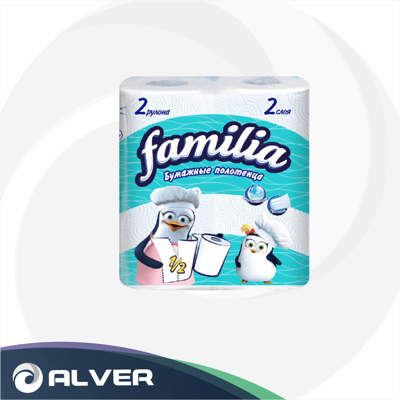 Полотенце бумажное Familia 2 слоя 2 рул