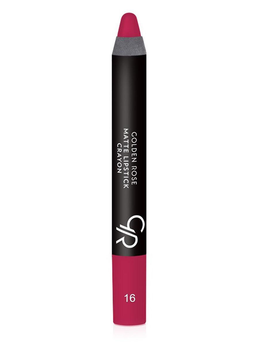 Помада-карандаш для губ Golden Rose Matte Lipstick Crayon оттенок 16