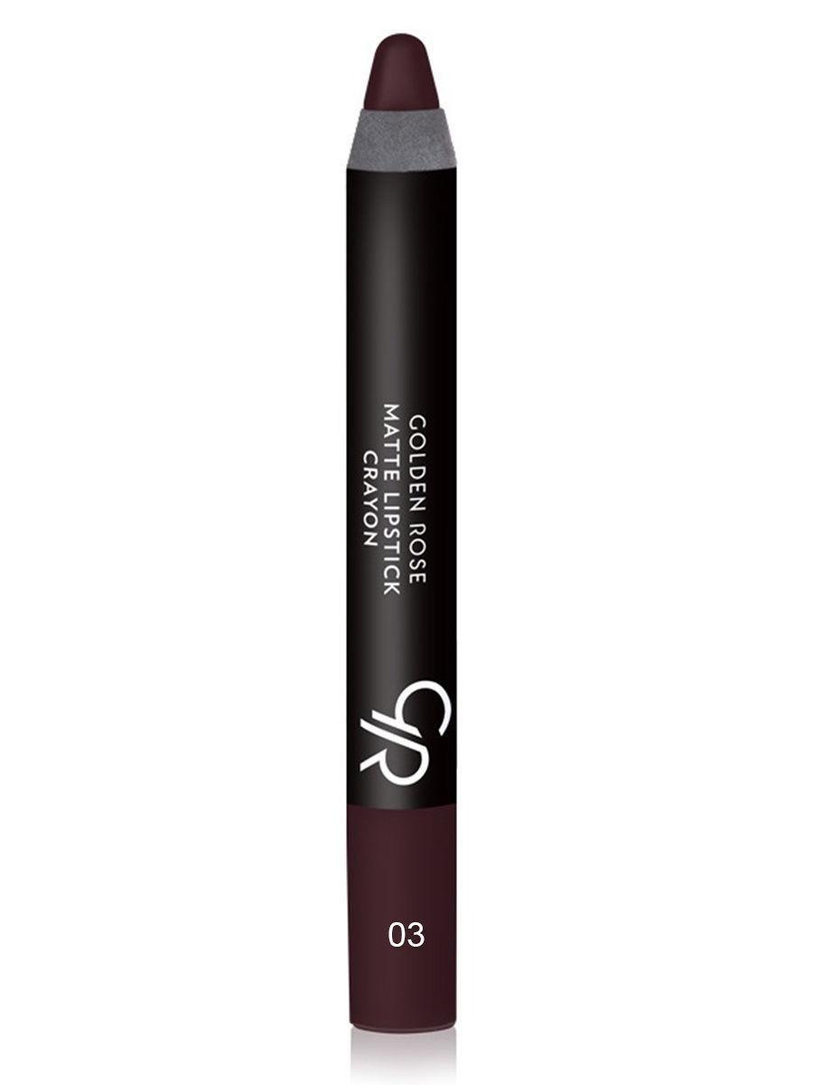 Помада-карандаш для губ Golden Rose Matte Lipstick Crayon оттенок 03