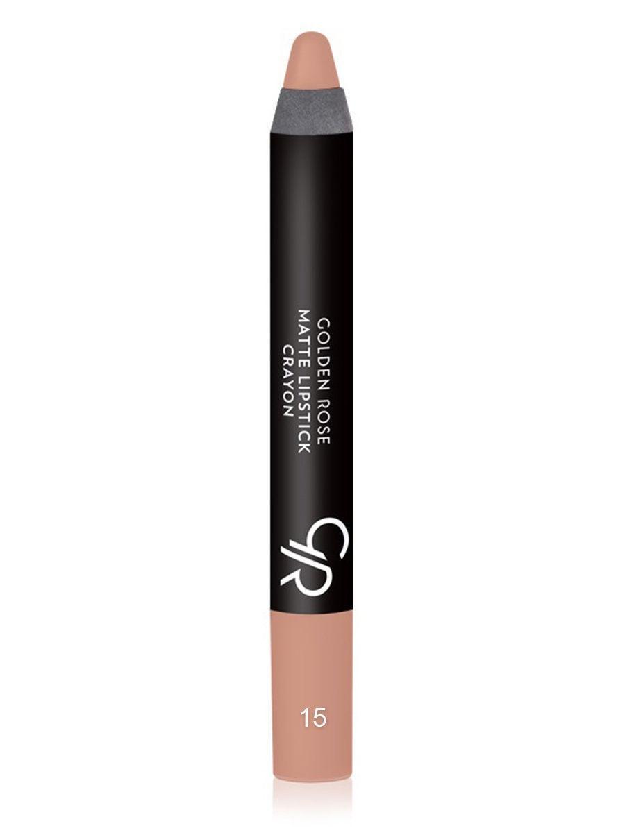 Помада-карандаш для губ Golden Rose Matte Lipstick Crayon оттенок 15