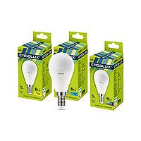 Эл. лампа светодиодная, Ergolux, LED-G45-9W-E14-4K, Шар, Мощность 9Вт, Тип колбы G45, Цвет. температура 4500К,