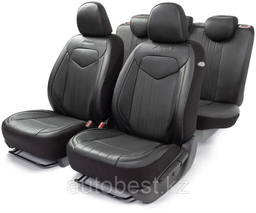Комплект чехлов на сиденья SIGNATURE, материал экокожа авточехлы Автопрофи