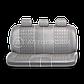 Чехлы на сиденья Comfort COM комбинированные с экокожей. Серые чехлы Автопрофи, фото 2