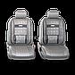 Чехлы на сиденья Comfort COM комбинированные с экокожей. Серые чехлы Автопрофи, фото 3