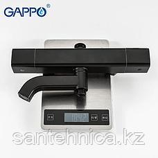 Gappo G2491-6 Душевая стойка с термостатом черная, фото 3