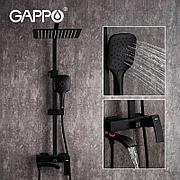 Gappo G2407-6 Душевой стойка черная