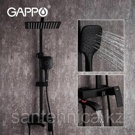 Gappo G2407-6 Душевой стойка черная, фото 2