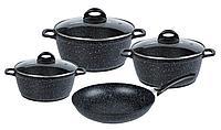 """Набор посуды: 3 кастрюли + сковорода """"Crispy Natura"""" 1,5 л 2,5 л 5 л (SSW Berlin, Германия)"""