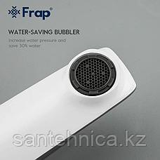 Смеситель для раковины FRAP F1058 белый/хром, фото 2