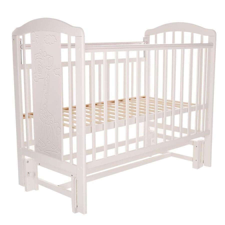 Pituso: Кровать детская NOLI ЖИРАФИК маятник универсальный с накладкой Белый