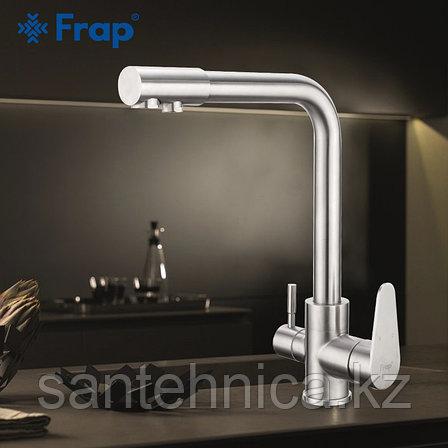 Смеситель для кухни с питьевым каналом Frap F4348 нержавеющая сталь, фото 2