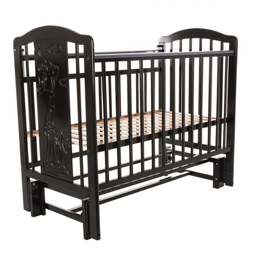Pituso: Кровать детская NOLI ЖИРАФИК маятник универсальный с накладкой Венге