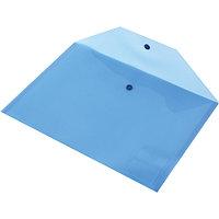 Папка-конверт Proff А4 с кнопкой прозрачная синяя 0,18 мм