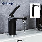 Смеситель для раковины FRAP F1057 черный/хром