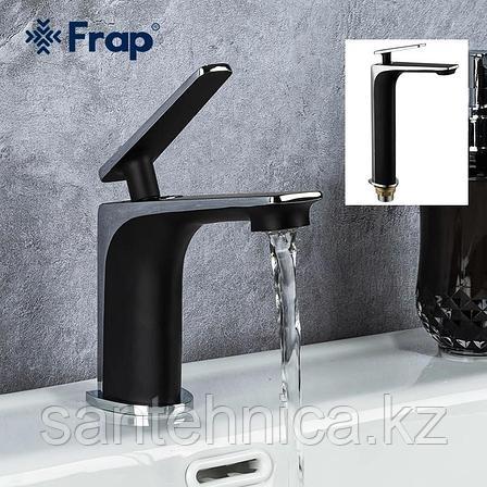 Смеситель для раковины FRAP F1057 черный/хром, фото 2