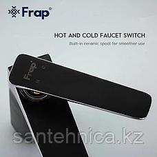 Смеситель для раковины FRAP F1057 черный/хром, фото 3