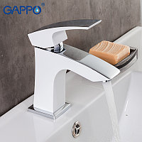 Смеситель для раковины Gappo G1007-7 белый/хром