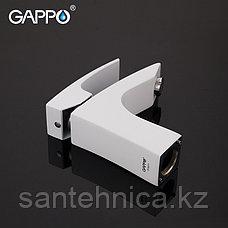 Смеситель для раковины Gappo G1007-7 белый/хром, фото 2