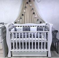 Детская кроватка Антел Джулия 1 маятник универсальный, Белый